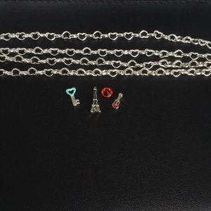 Origami Owl chain and charms